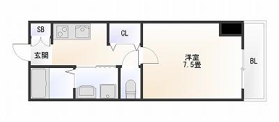 スワンズ難波パークビュー1K.jpg