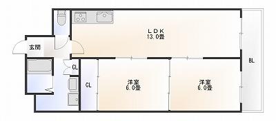 難波ロイヤルハイツ7A.jpg